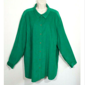 J. JILL Corduroy Button Front Shirt Top 2702E1